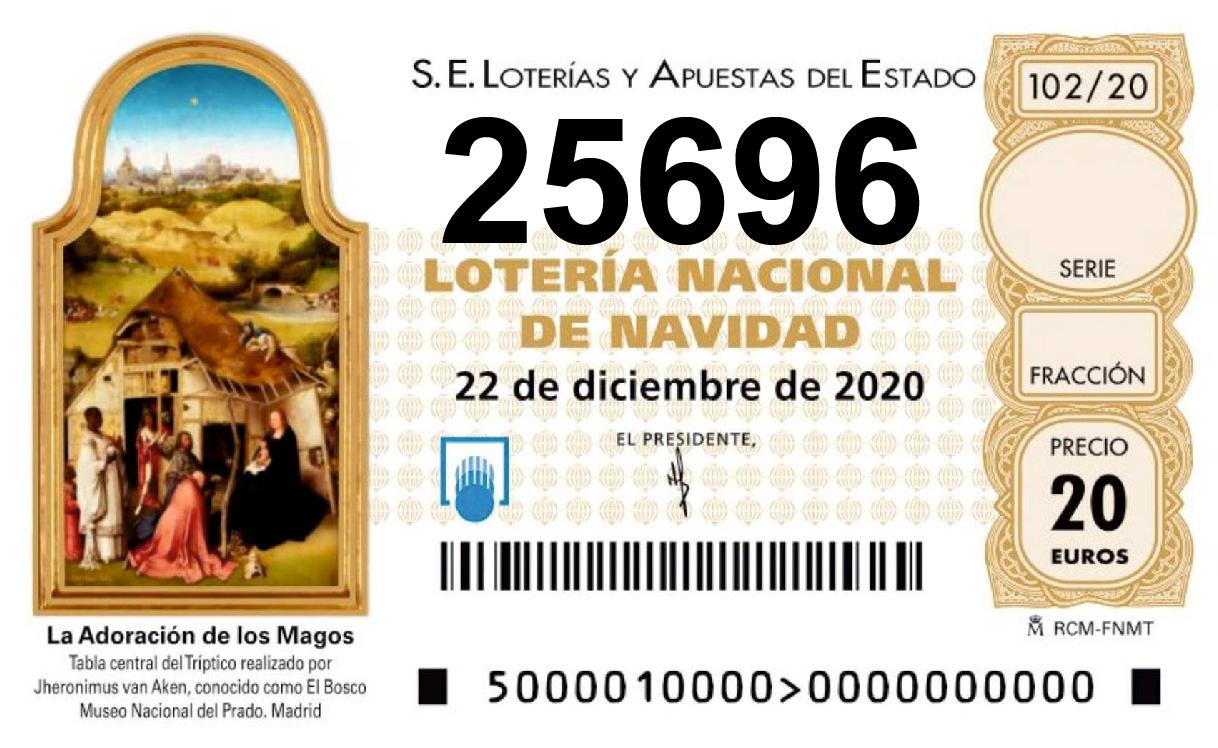 loteria navidad 25696